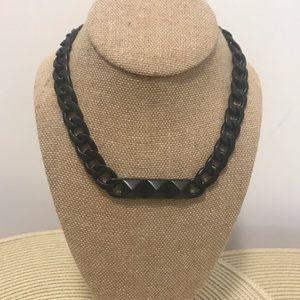 Black Metal Rocker Chic chain necklace